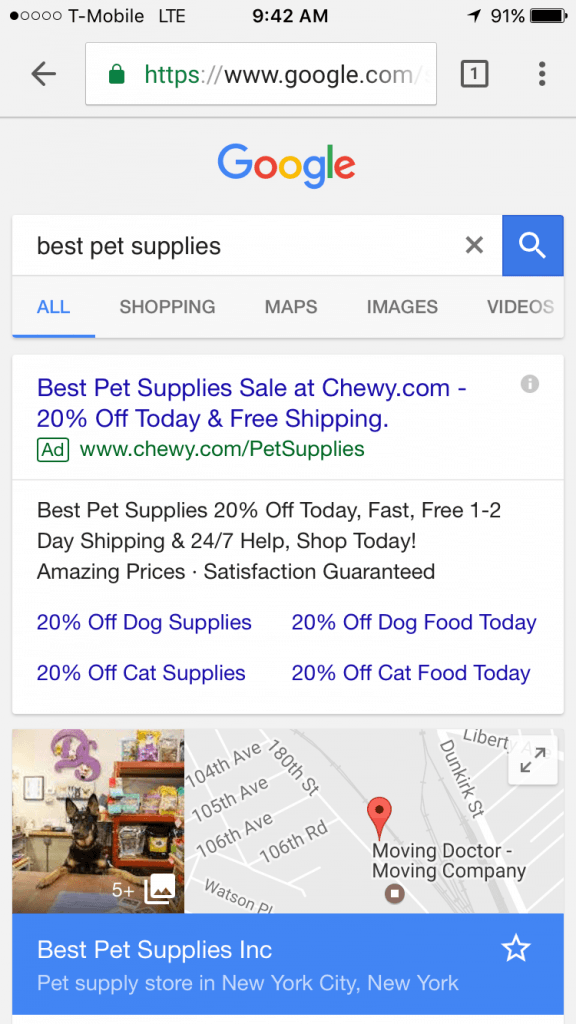AdWords Extensions Guide Local Store Call Example