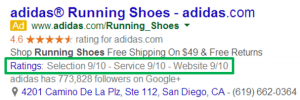 AdWords Extensions Guide Consumer Ratings Example