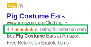 AdWords Sitelinks Guide Seller Rating Example