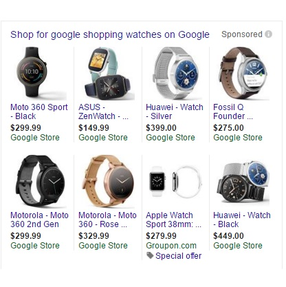 google shopping whitelists