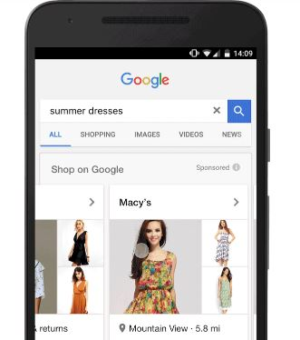 google showcase shopping