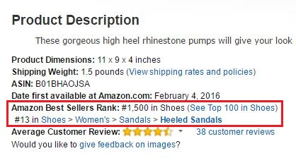 AMAZON SELLER RANKING