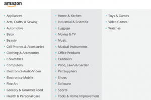 sponsored products on amazon categories
