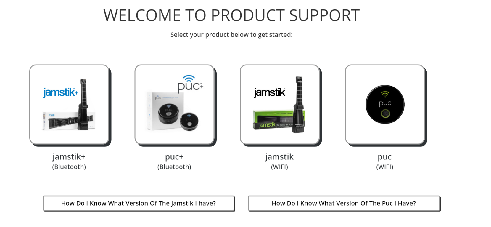 product support for jamstik