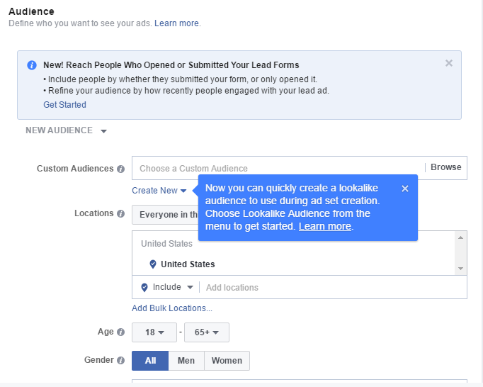 updates to facebook retargeting options