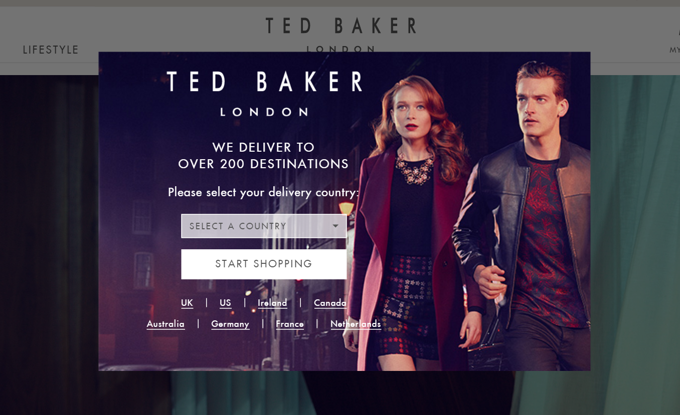 intrusive interstitial on ted baker