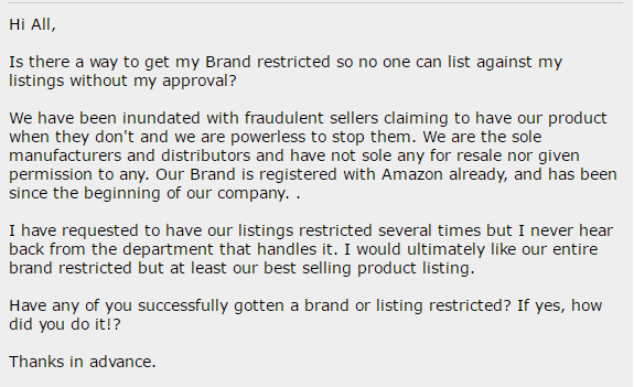 seller central request to get brand gated