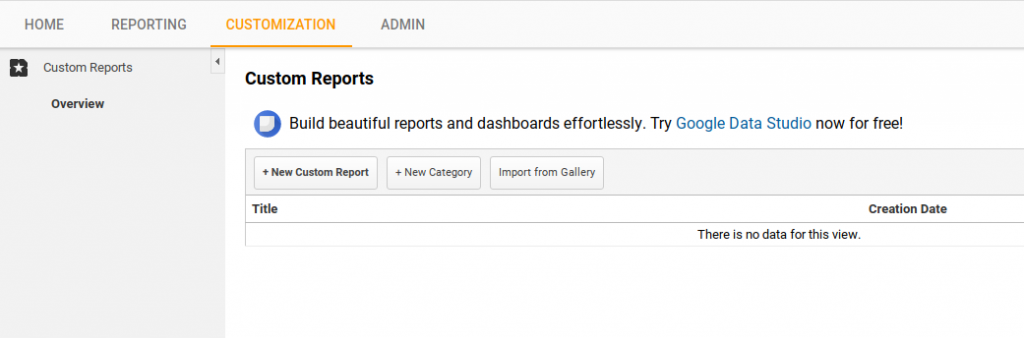 google analytics ecommerce custom reports