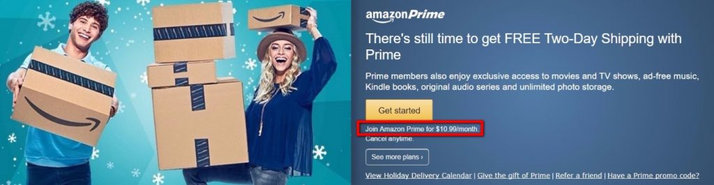 AMAZON PRIME NO FREE SHIPPING