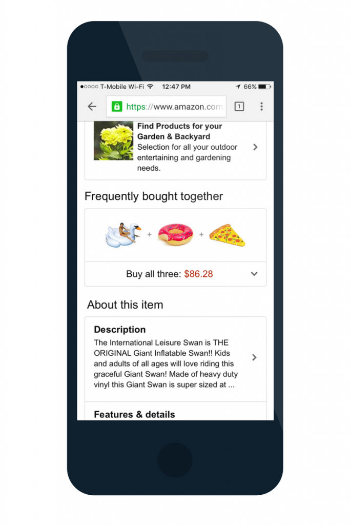 amazon mobile site content