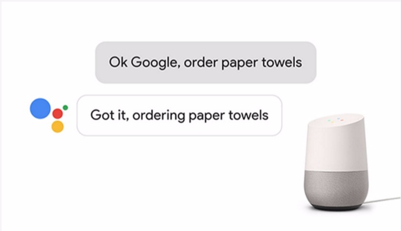 voice first device google shopping