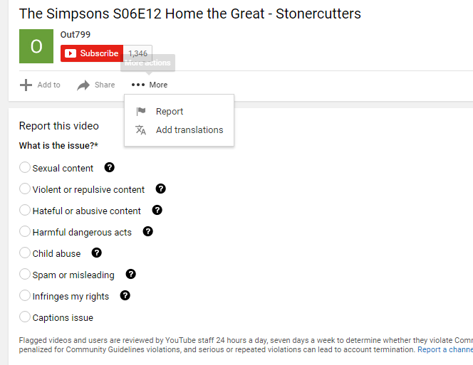 google youtube filters