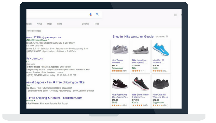 google shopping ads on right desktop