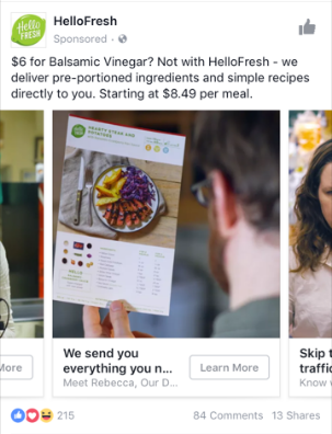 Facebook Carousel Ad Type for Retailers