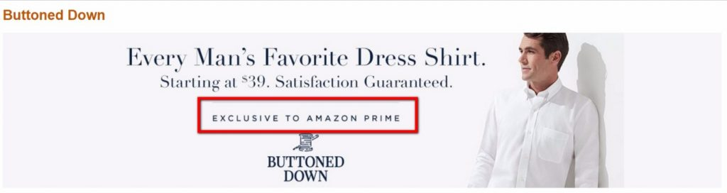 amazon prime buttoned down page