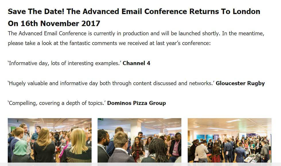 advanced email conference