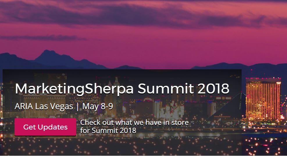 marketing sherpa summit 2018