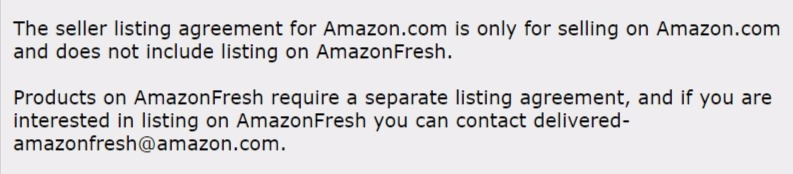 amazon fresh selling