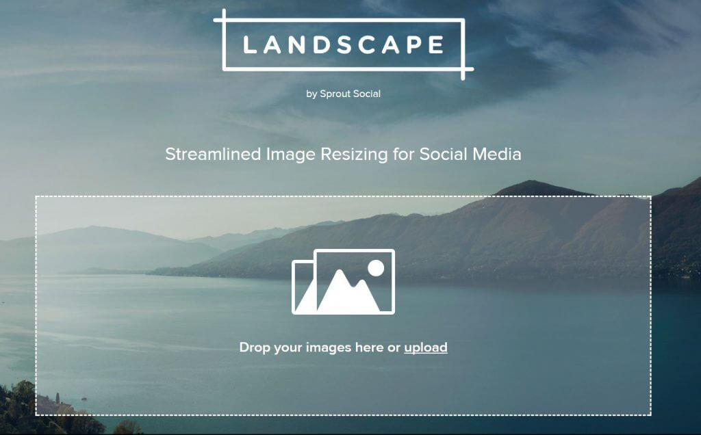 landscape for image resizing