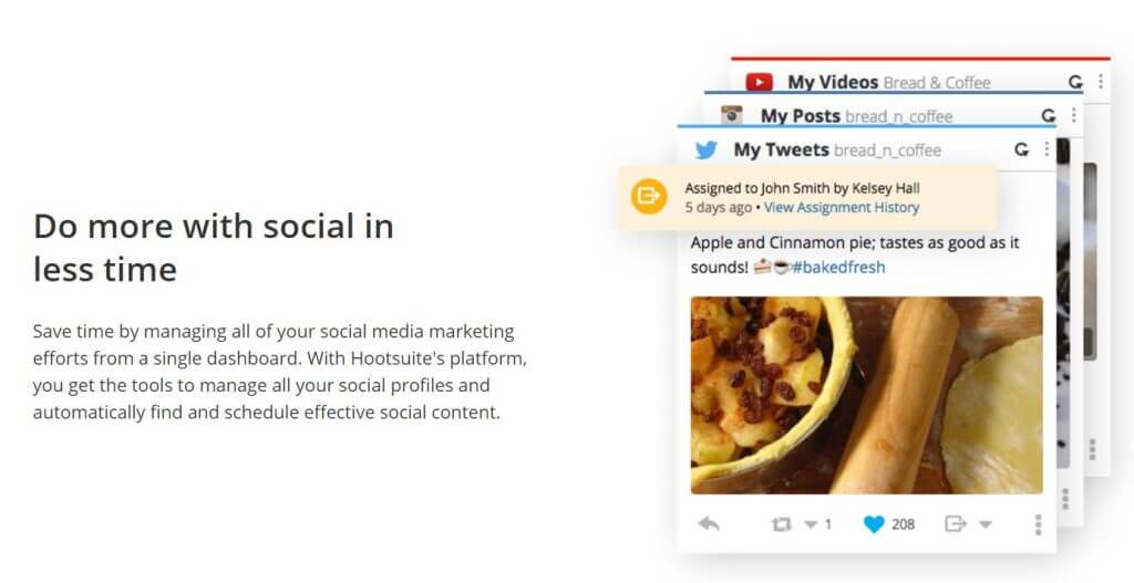 hootesuite social media management tool