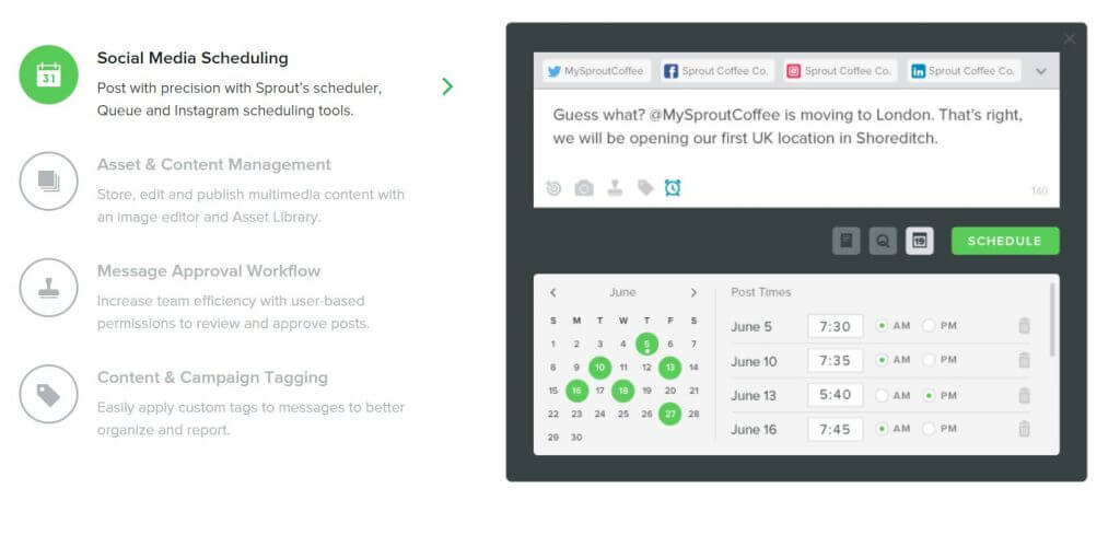 sproutsocial social media management platform