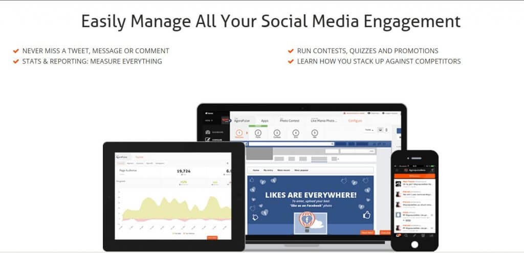 agorapulse social media management platform