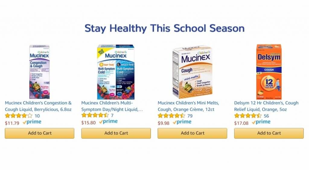 back to school ad copy on amazon