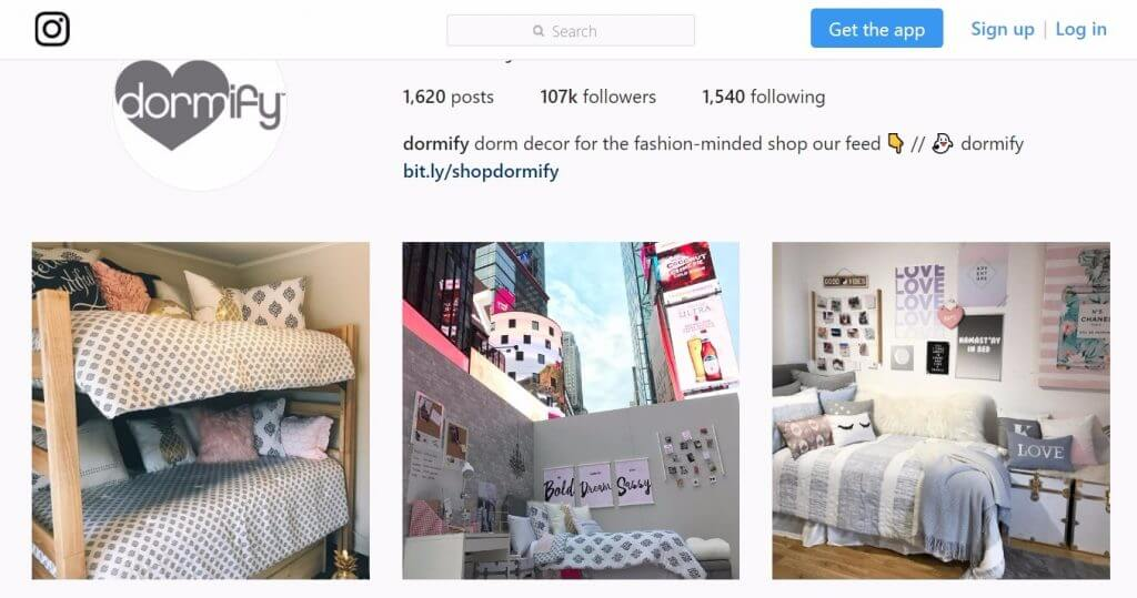dormify instagram page