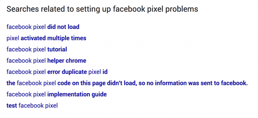 problems setting up the facebook pixel