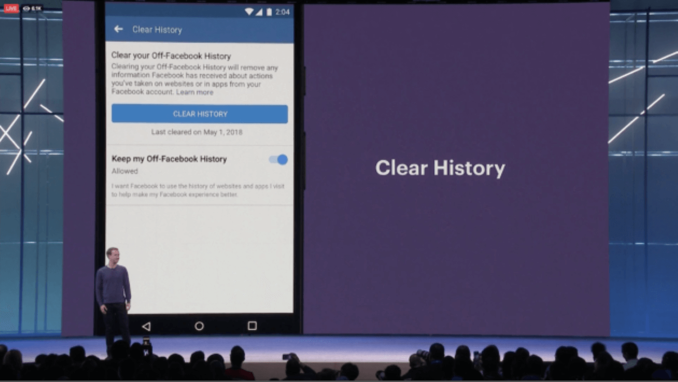 facebook f8 clear history keynote zuckerberg