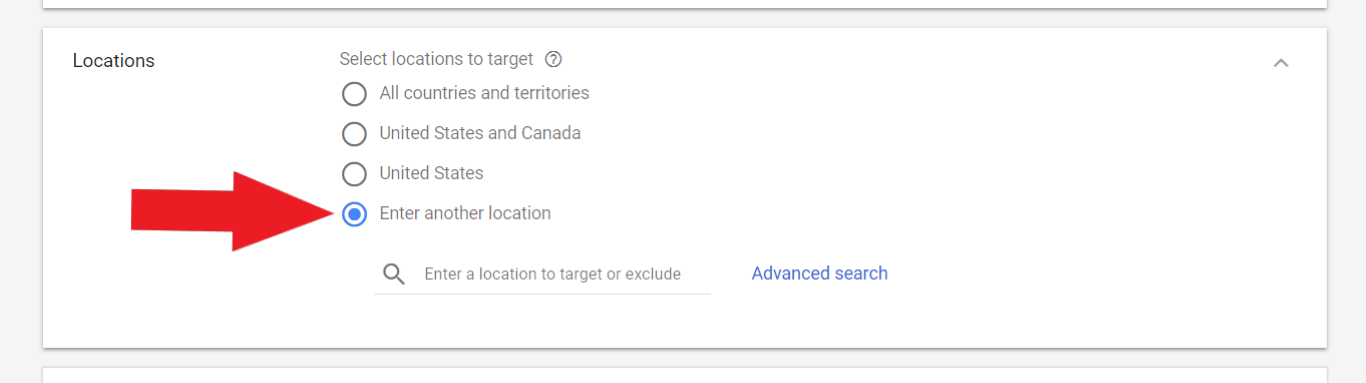 youtube adwords location targeting