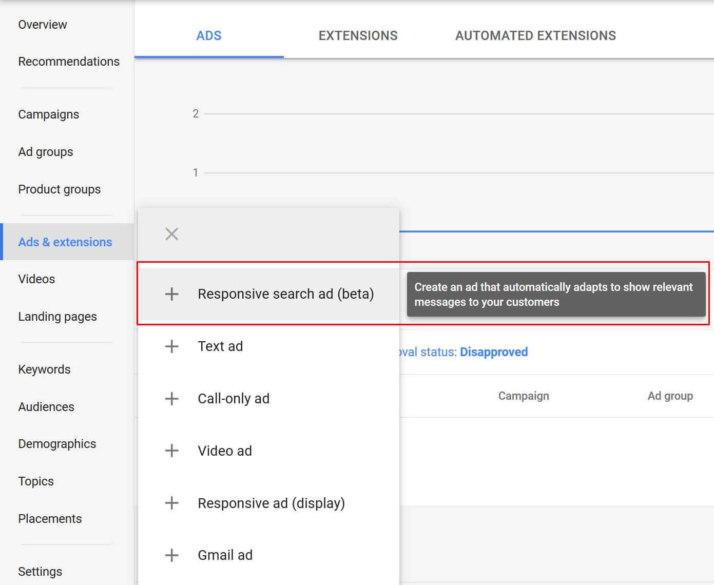 responsive search ads