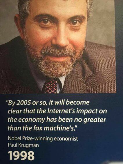 paul krugman internet quote