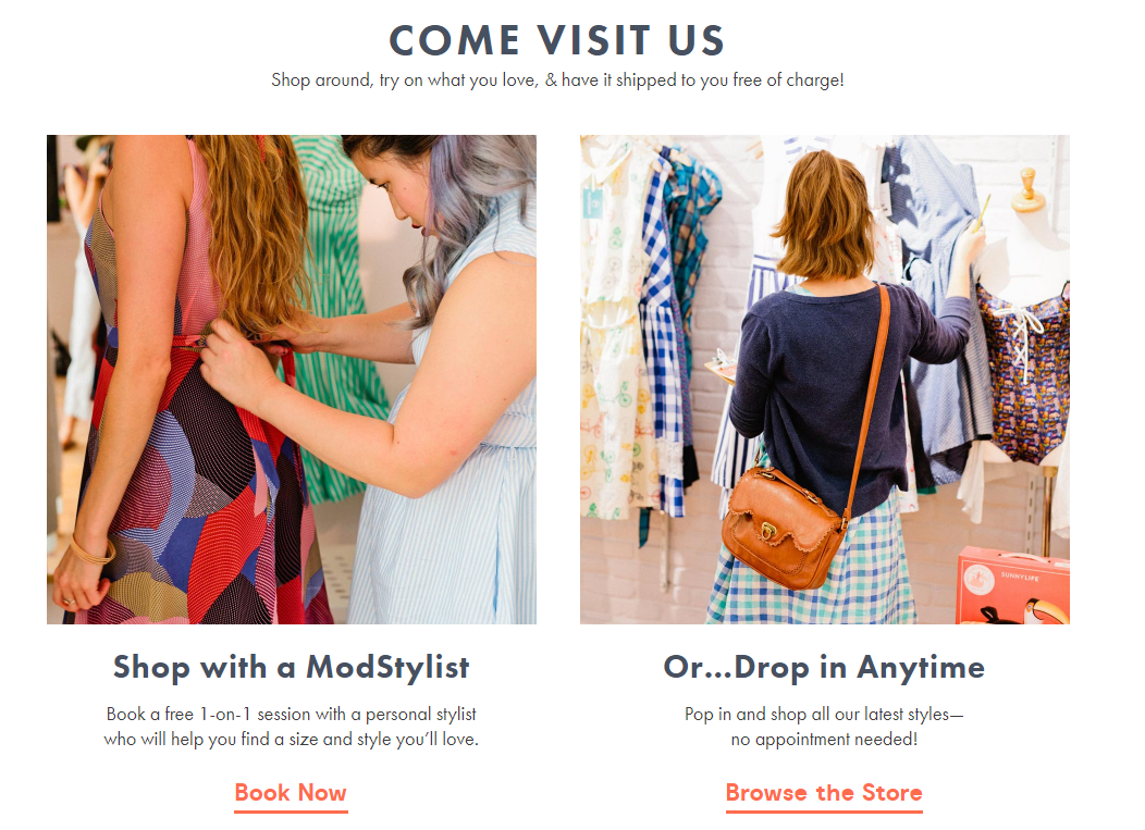 Modcloth pop up shop